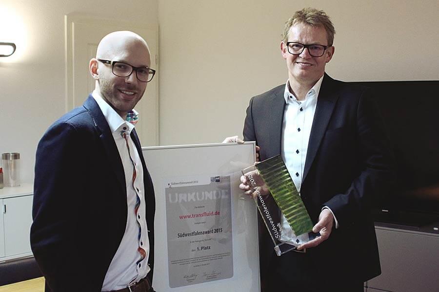 PSV News: Gewinn Südwestfalenaward 2015