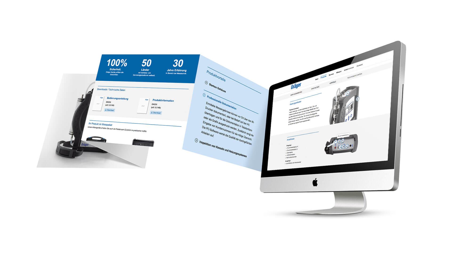 Referenz: Dräger Homepage Übersicht