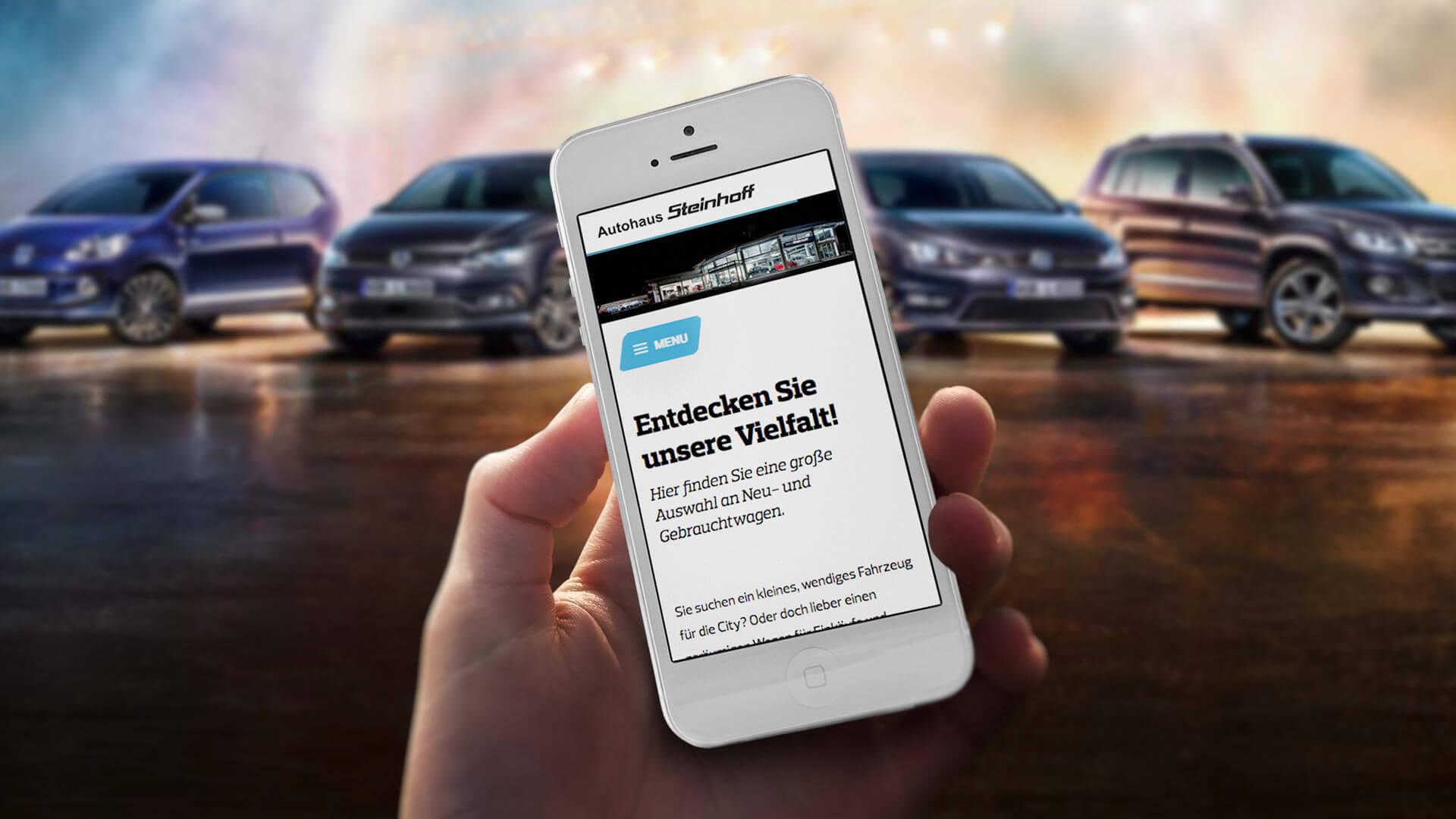Referenz: Autohaus Steinhoff Website