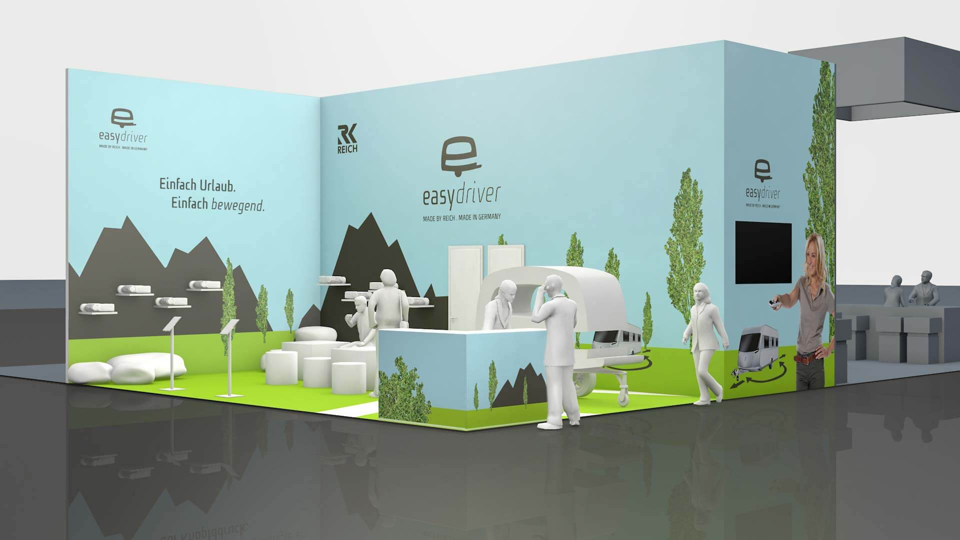 Referenz: REICH easydriver Messestand Rendering