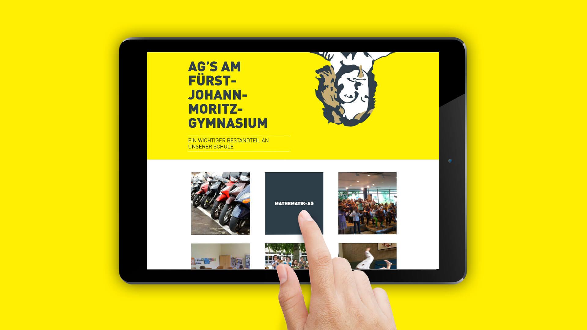Referenz: Fürst Johann Moritz Gymnasium Websiterelaunch Beitragsbild